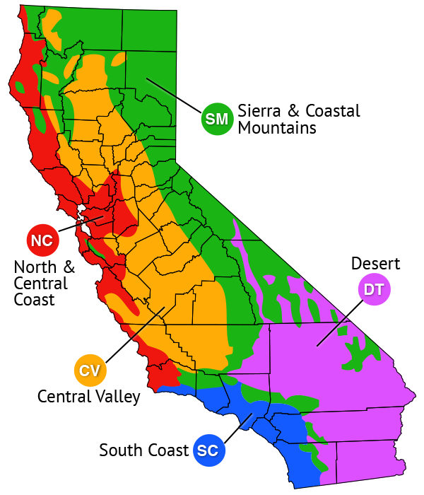 map of California regions