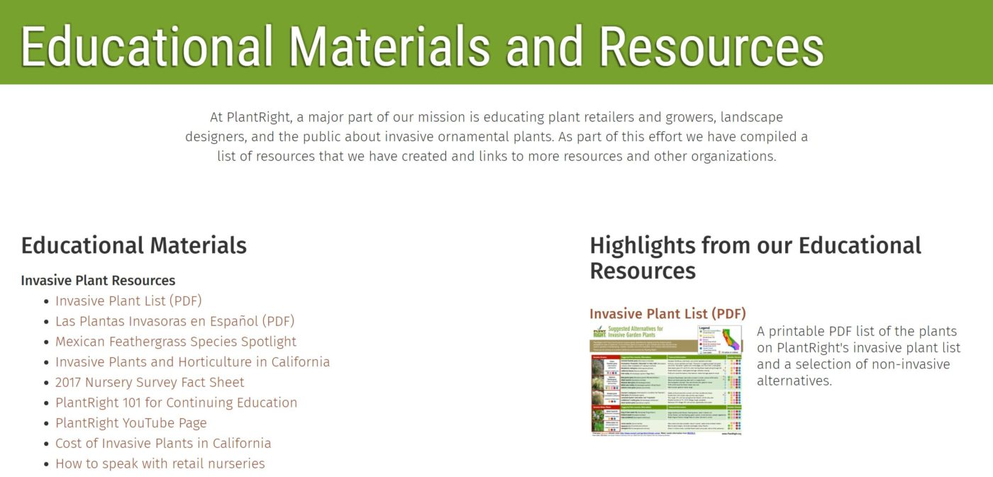 Educational Materials and Resources – PlantRight