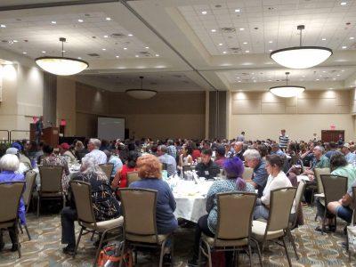 Ballroom at the Cal-IPC Symposium 2019.